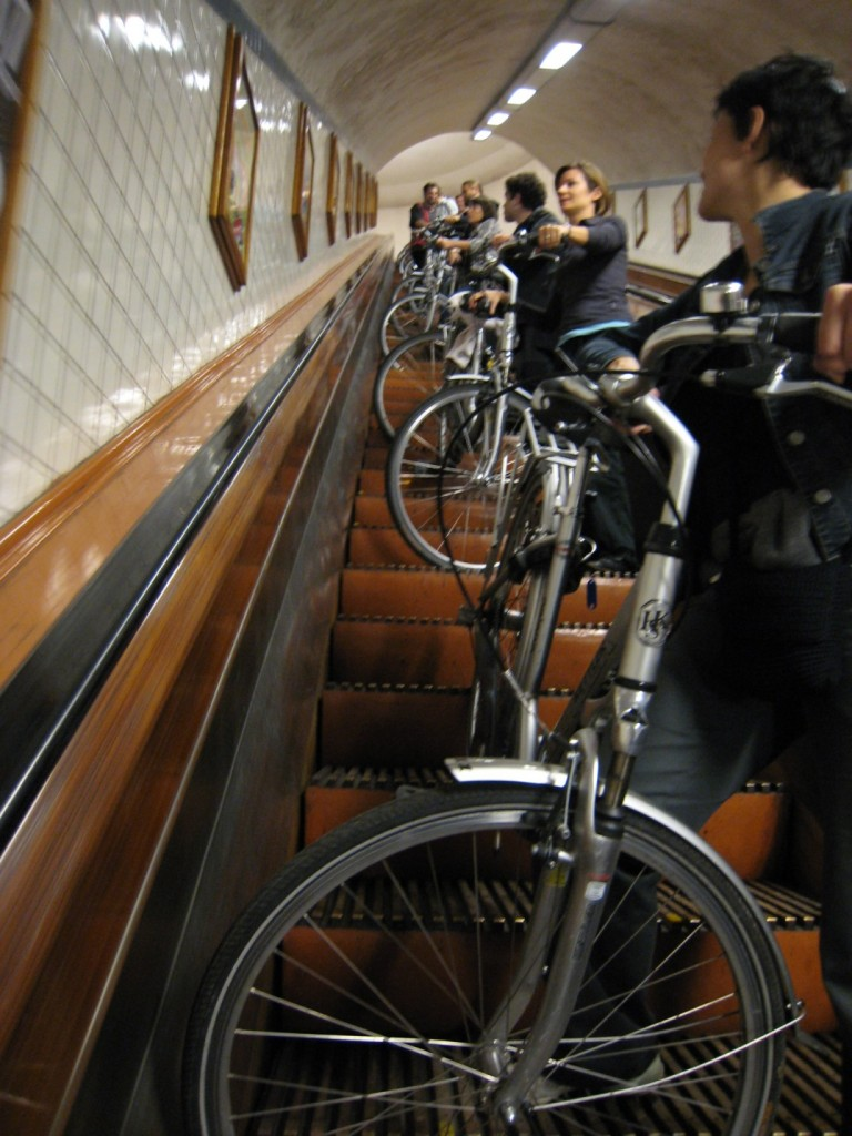 fiets in tunnel