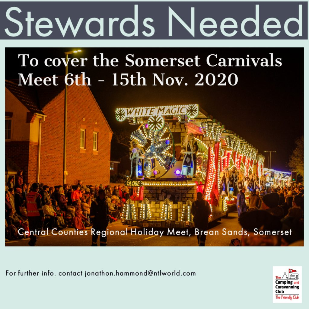 StewardsNeeded for Brean Sands Holiday Meet. 6th to 15th November 2020